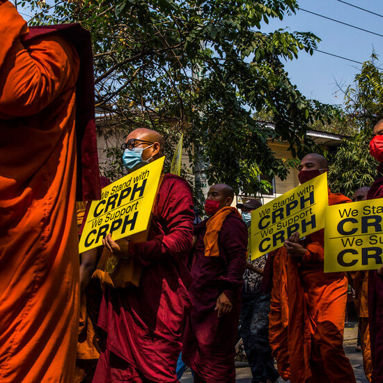 Myanmar's Monks, Leaders of Past Protests, Are Divided Over the Coup
