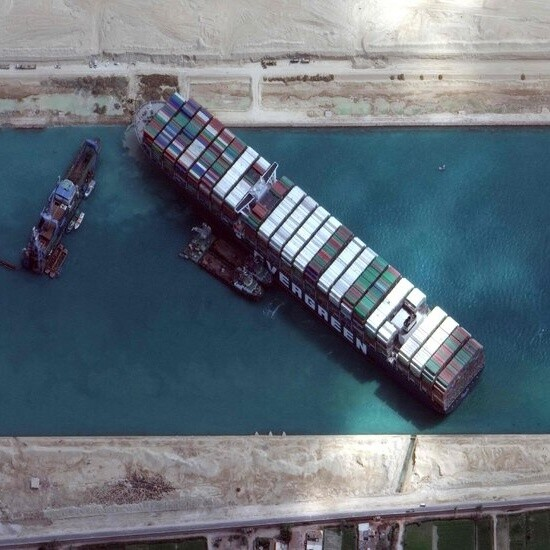 How One of the World's Biggest Ships Jammed the Suez Canal