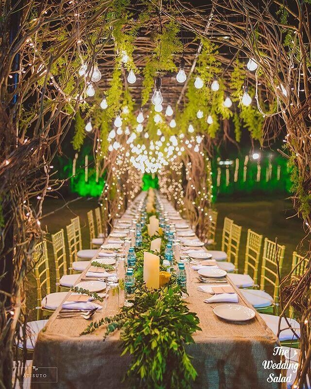 Fancy Long Table Setting Ideas For Your Wedding