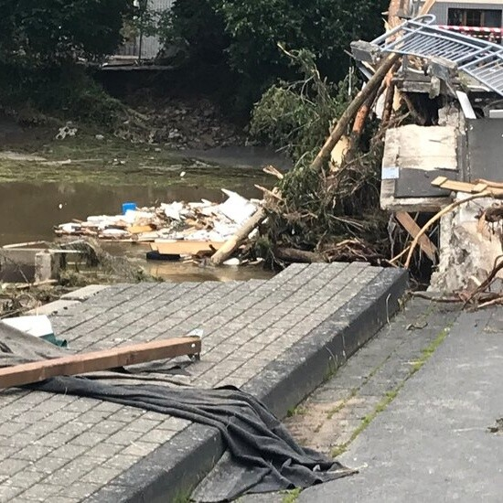 Flood Damage in Germany Leaves Village With No Power, Running Water