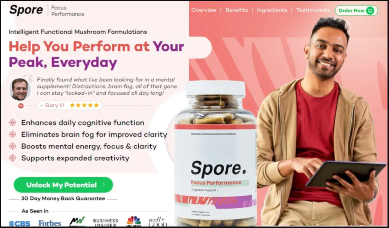 Spore Focus Performance - Improve Your Brain Programmed Properly & Healthy For Brain.