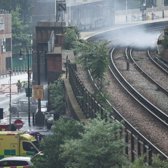 Fire Near London Train Station Closes Roads and Prompts Evacuations