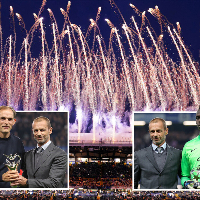 Chelsea celebrate Champions League win with stunning fireworks display for fans at Stamford Bridge before Zenit clash