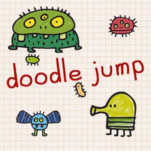 Doodle jump app - challenging and fun