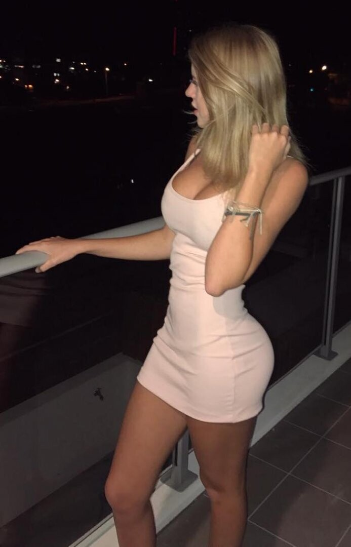 salmon tight dress