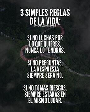 3 reglas de la vida