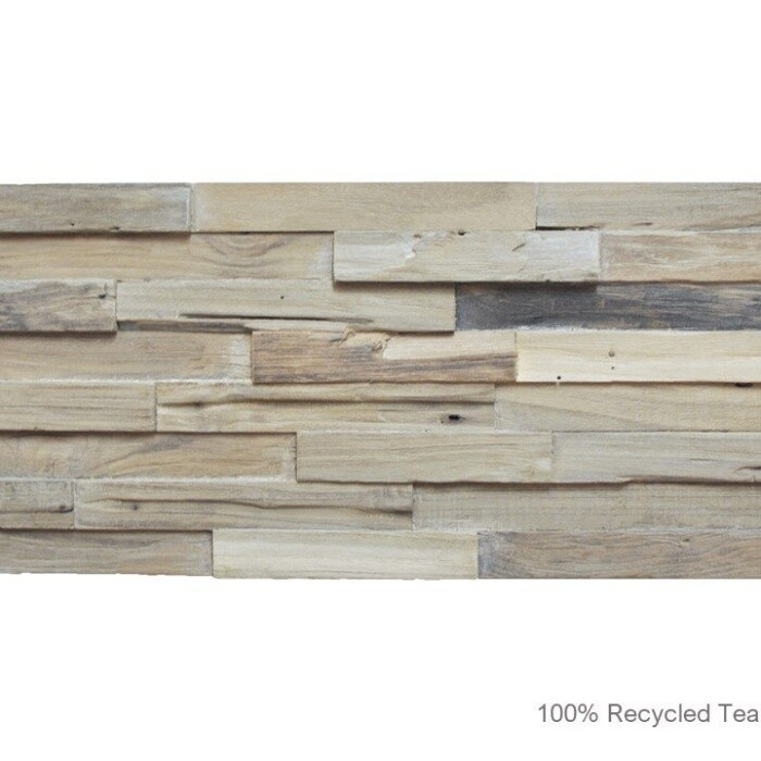 Recycled 3D Teakwood Wall Panels - Graphite (Available in Cases or as