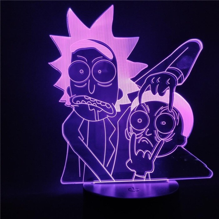 Rick and Morty Lamp