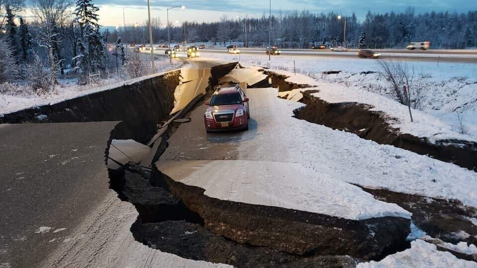 A different angle on the Alaska Earthquake car that just got shared 50 times