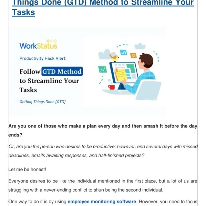 Productivity Hack Alert! Follow the Getting Things Done (GTD) Method to Streamline Your Tasks