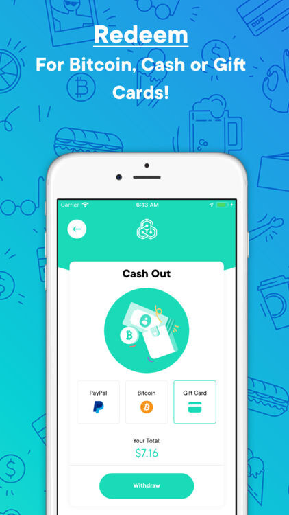 Cashback for everyday purchases using Pei