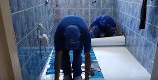 Montando piso 3D en un baño