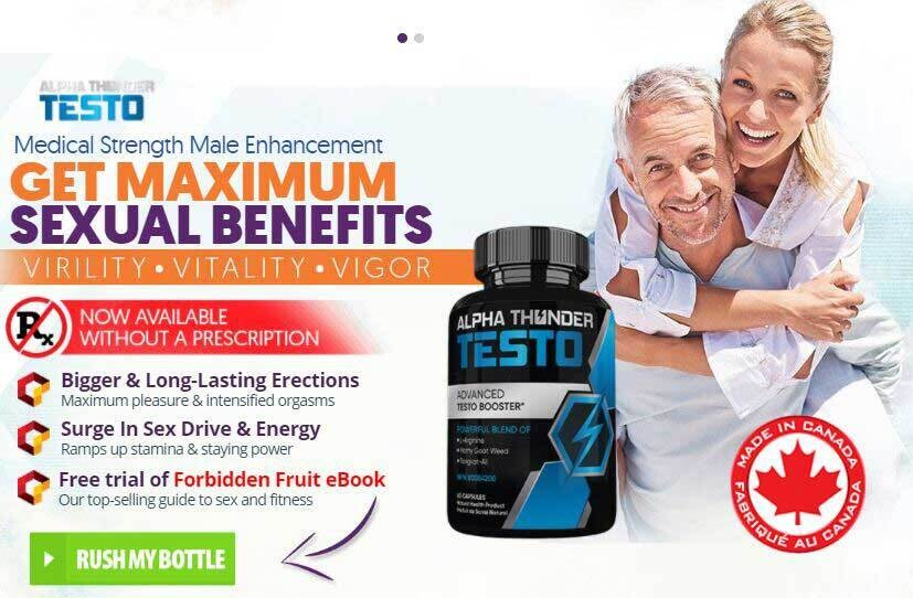 Alpha Thunder Testo Pills Canada Reviews (Scam or Legit) – Is It Worth Your Money?