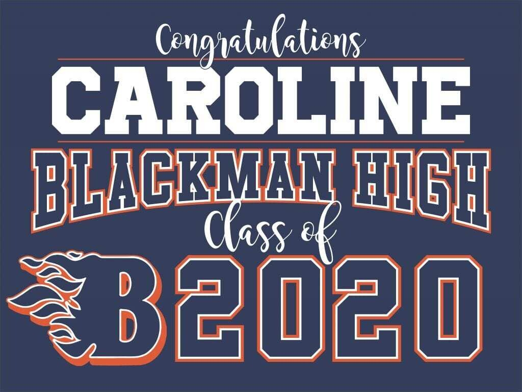 Deluxe Class of 2020 Graduation Yard Signs