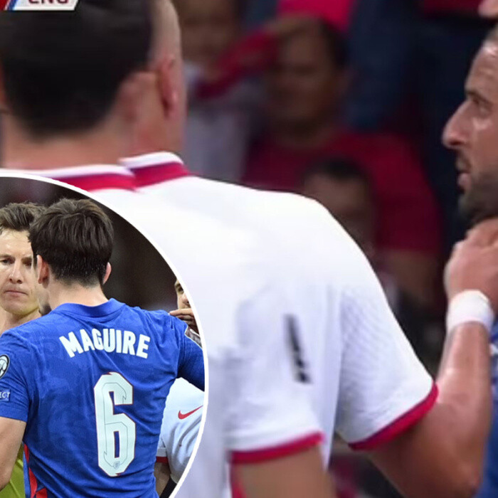 Moment Kyle Walker had neck 'pinched' during heated England vs Poland clash – was this what sparked Maguire vs Glik row?