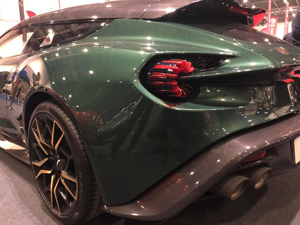 Aston Martin Zagato Shooting Brake at the London Classic Car Show. The detail on this thing is incredible. Drool.