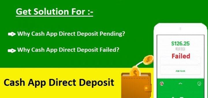 Cash App Direct Deposit Failed | Cash App Direct Deposit Pending
