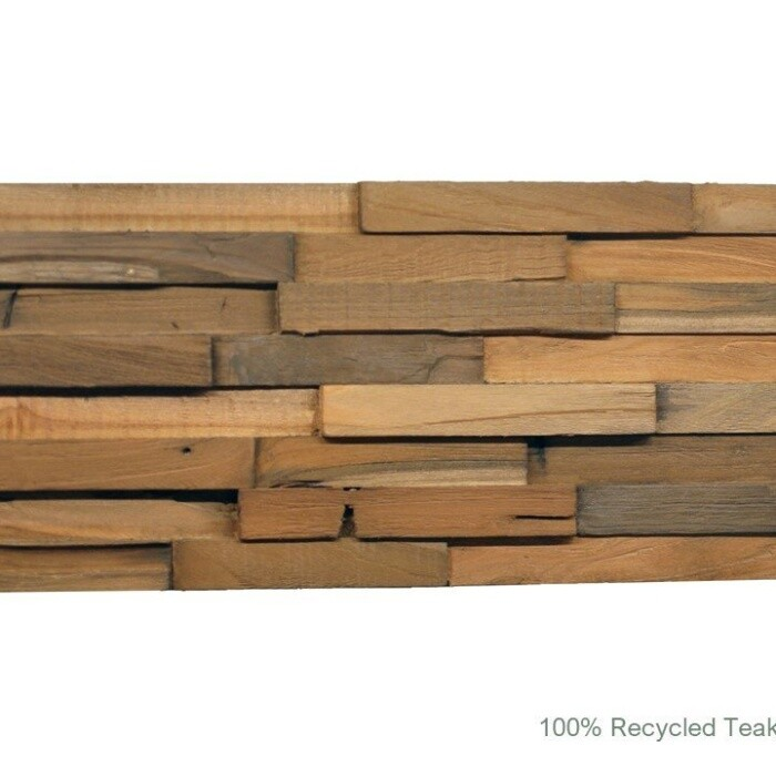 Recycled 3D Teakwood Wall Panels - Cinnamon (Available in Cases or as
