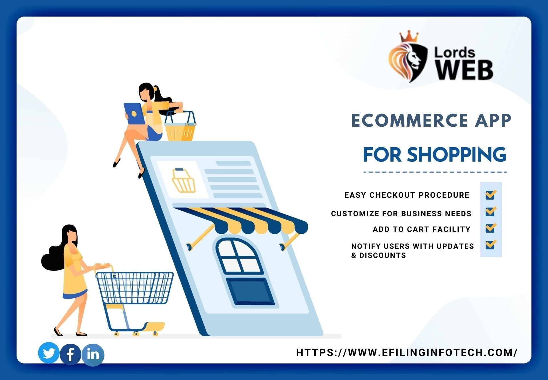 eCommerce web or app development with 30% discount
