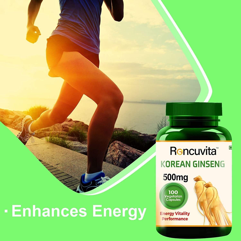 Roncuvita organic 500mg Korean Ginseng Capsule as a Energy booster