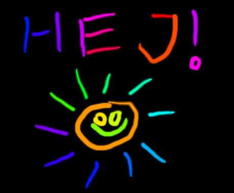 Rainbow glow doodle