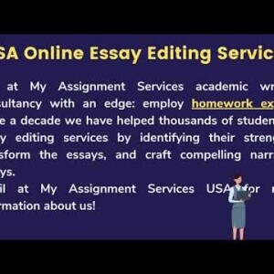 Essay Editing Service Online Visit - https://www.myassignmentservices.com/usa/essay-editing-service.html