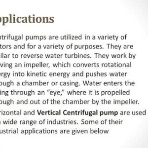 Centrifugal Pumps Applications and Limitations