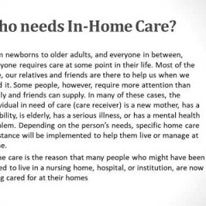 All about In Home Care