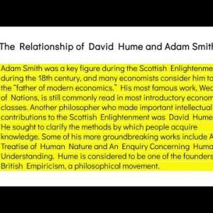IELTS English Reading Comprehension Practice - The Relationship of David Hume and Adam Smith #IELTS