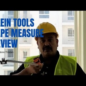 Klein Tools Tape Measure Review - Steve Tristan shows the features of this measuring device.