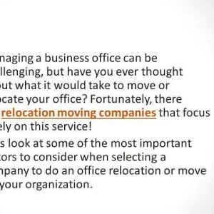 How to Choose an Office Relocation Company