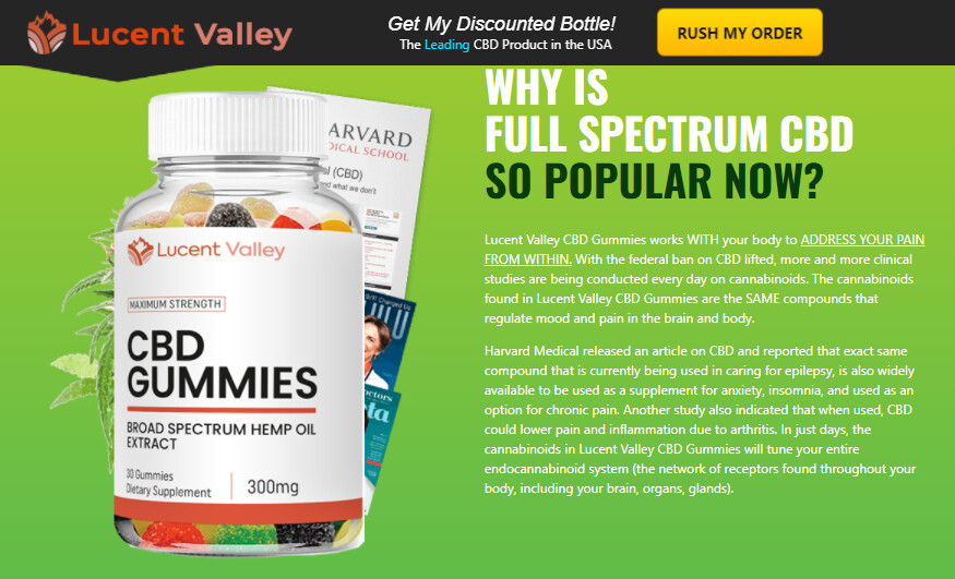 """Lucent Valley CBD Gummies Reviews - """"Pros and Cons"""" How Buy Lucent Valley CBD?"""