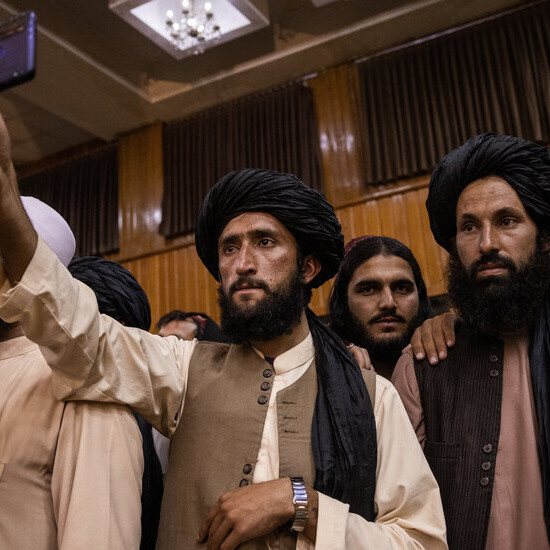 Facebook reaffirms a ban on Taliban accounts even as the group looks to communicate a new message.