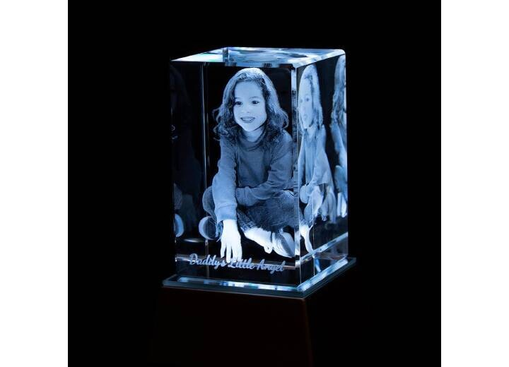 3D Crystal Vertical Tower | 3D Photo Gifts