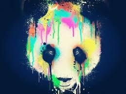 La cara de un panda triste y desolado tratando de sobrevivir