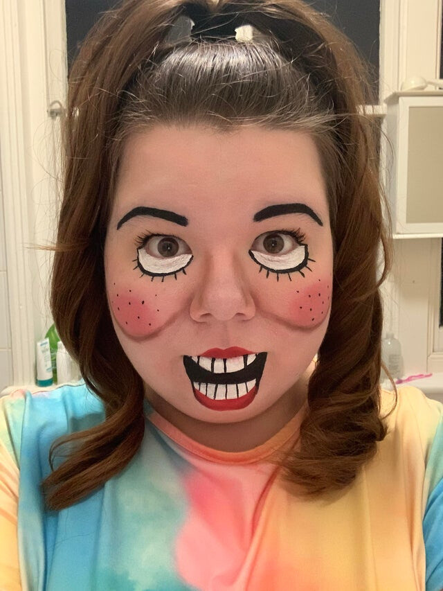 First time attempt at ventriloquist dummy make up worked pretty well!