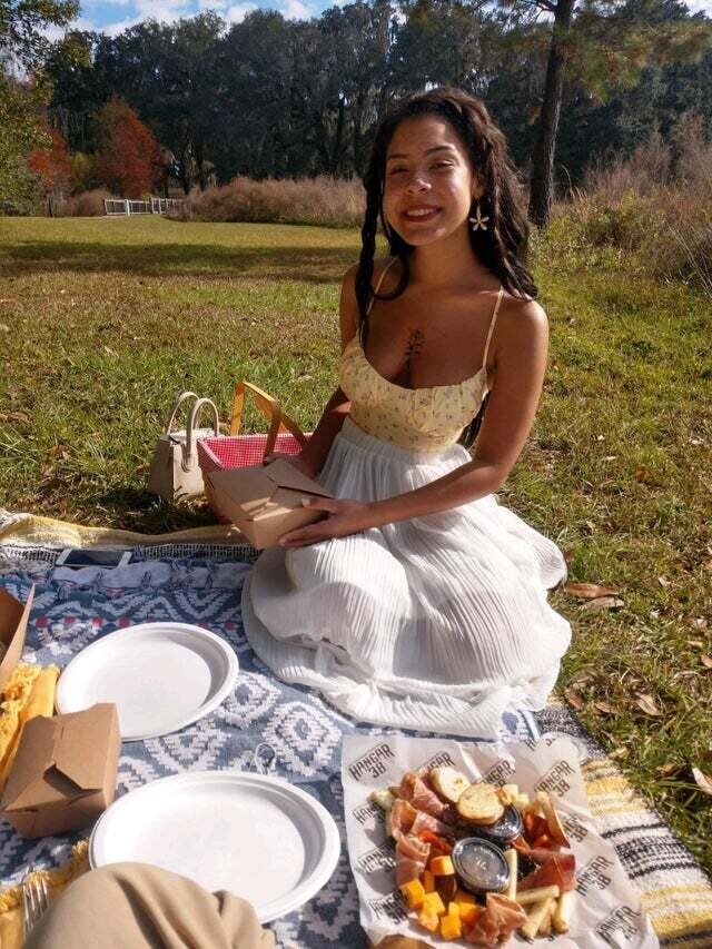 Picnic date outfit! What I wore to ask my current partner to be my boyfriend