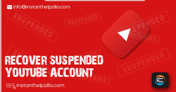 How to recover a suspended YouTube account?