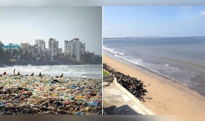 t took 3 years to clean the Versova Beach in Mumbai. All this happened due to exemplary efforts of one man(Afroz Shah) and his team