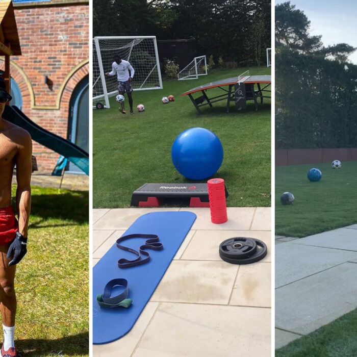 Footballers' amazing gardens with their own pitches, slides and goals, including John Terry and Aubameyang