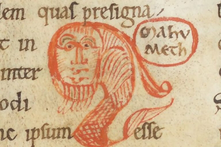 First known caricature of Muhammad. 1142 AD, Abbot of Cluny