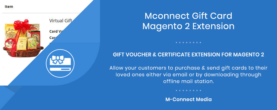 Mconnect Gift Card and Certificate Extension for Magento 2