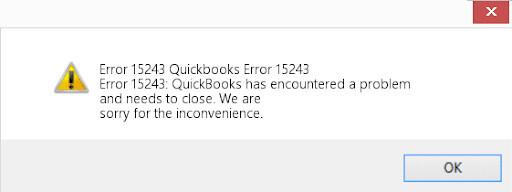 How to Fix QuickBooks 15243 Error