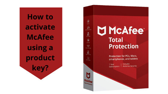 How to activate McAfee using a product key?