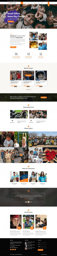 Theme For Charity Website