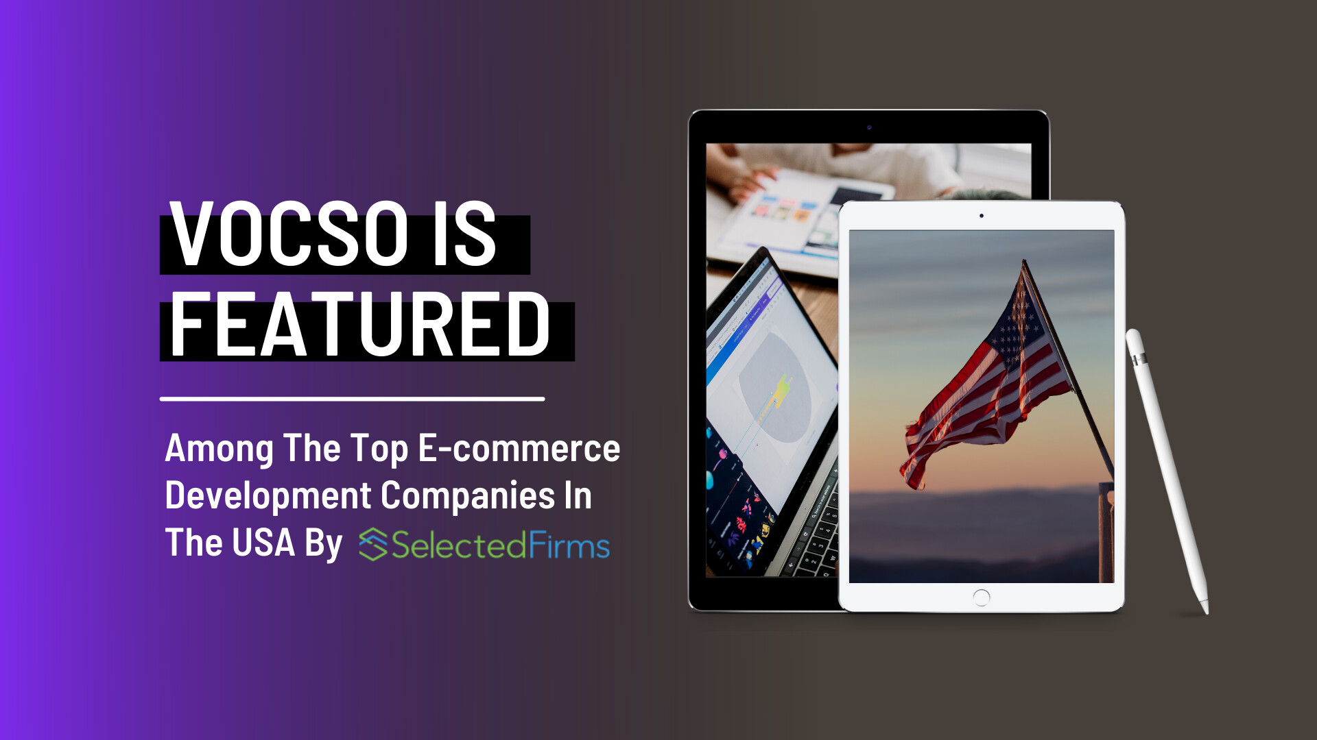 VOCSO Is Featured Among The Top E-commerce Development Companies In The USA By Selected Firms