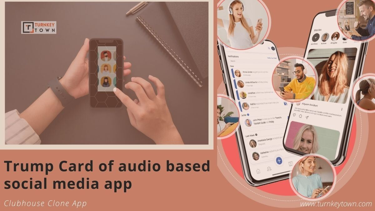 Clubhouse Clone   Clubhouse Clone Script   audio-based social media app   invite-only social media app