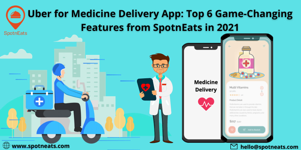 Uber for Medicine Delivery App: Top 6 Game-Changing Features from SpotnEats in 2021