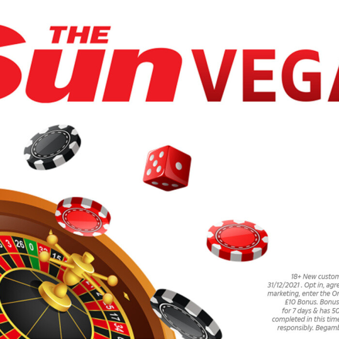 Online casino offer: Join Sun Vegas now to get £10 FREE with no deposit required