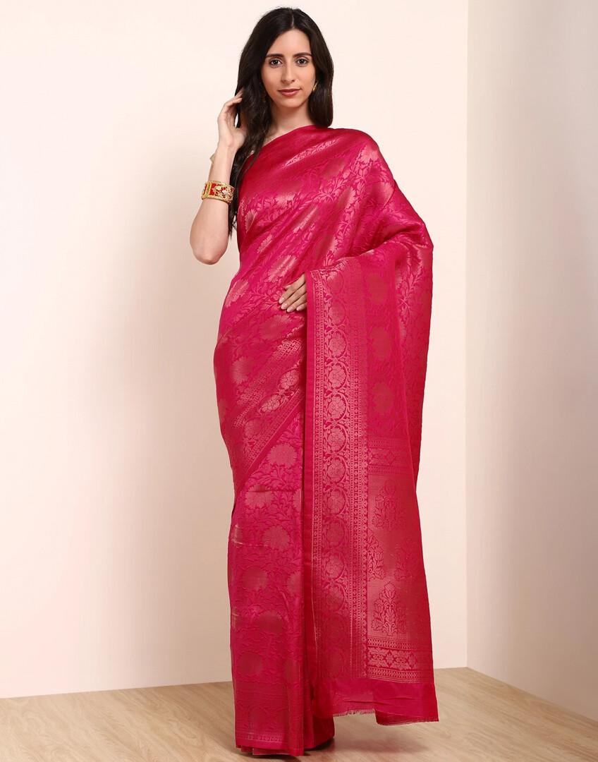 Pink Art Handloom Saree
